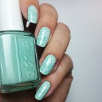 stamping essie mint candy apple