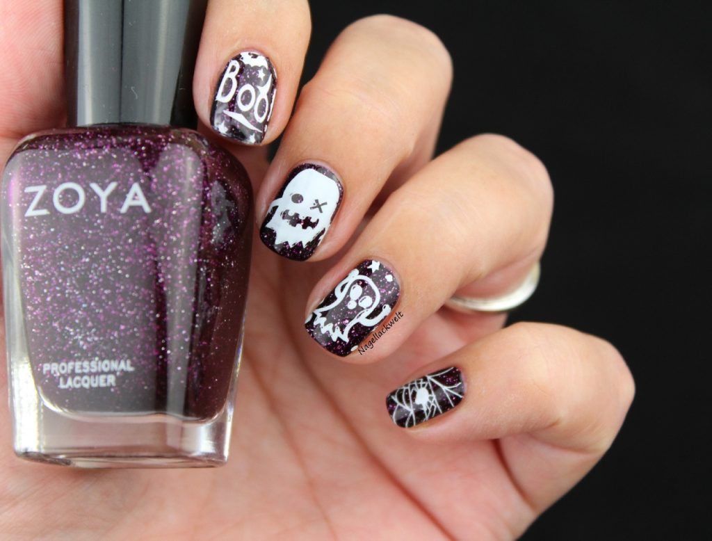 Halloween Nageldesign Stamping Zoya