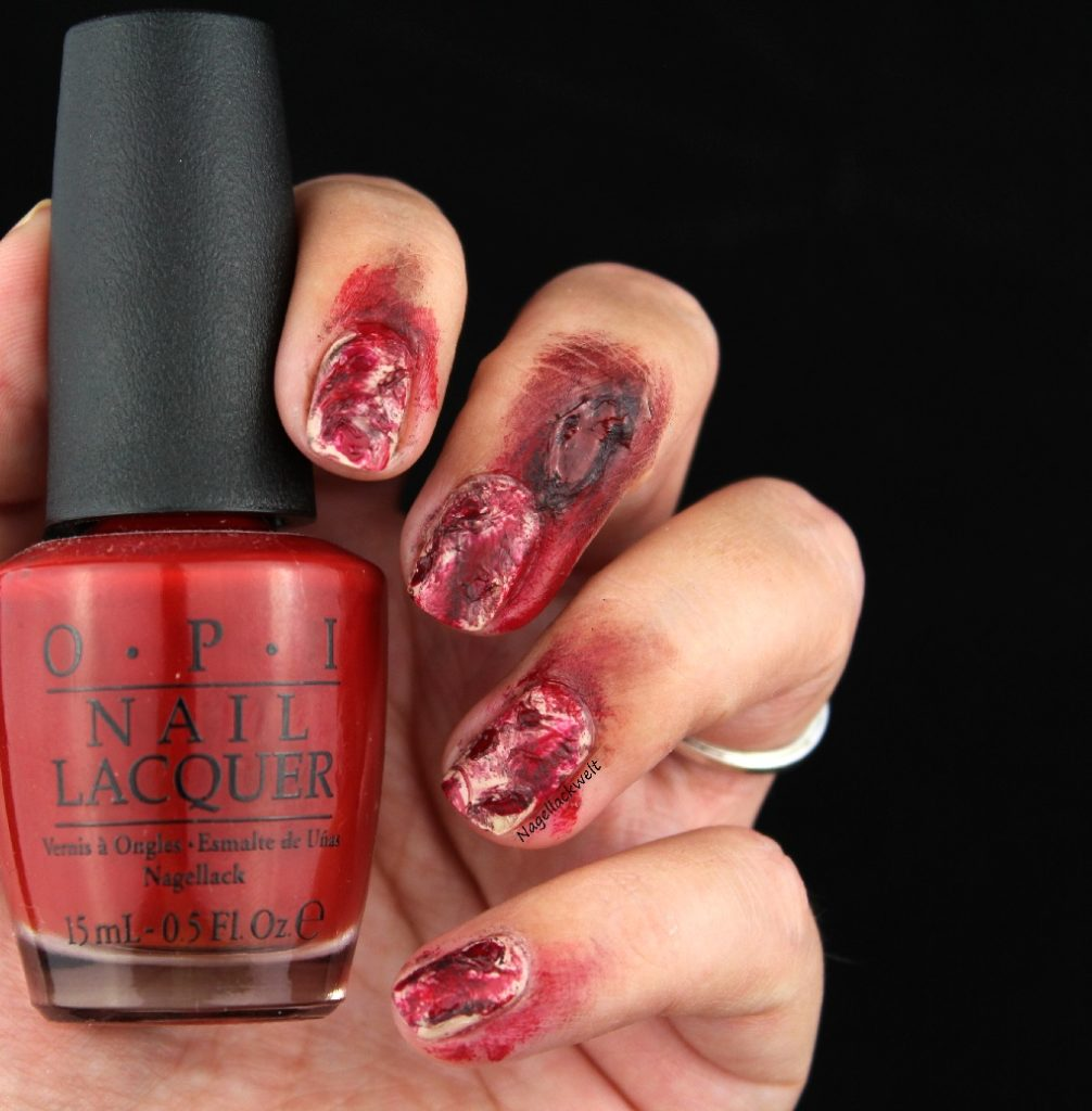 Halloween Nageldesign blutige Naegel