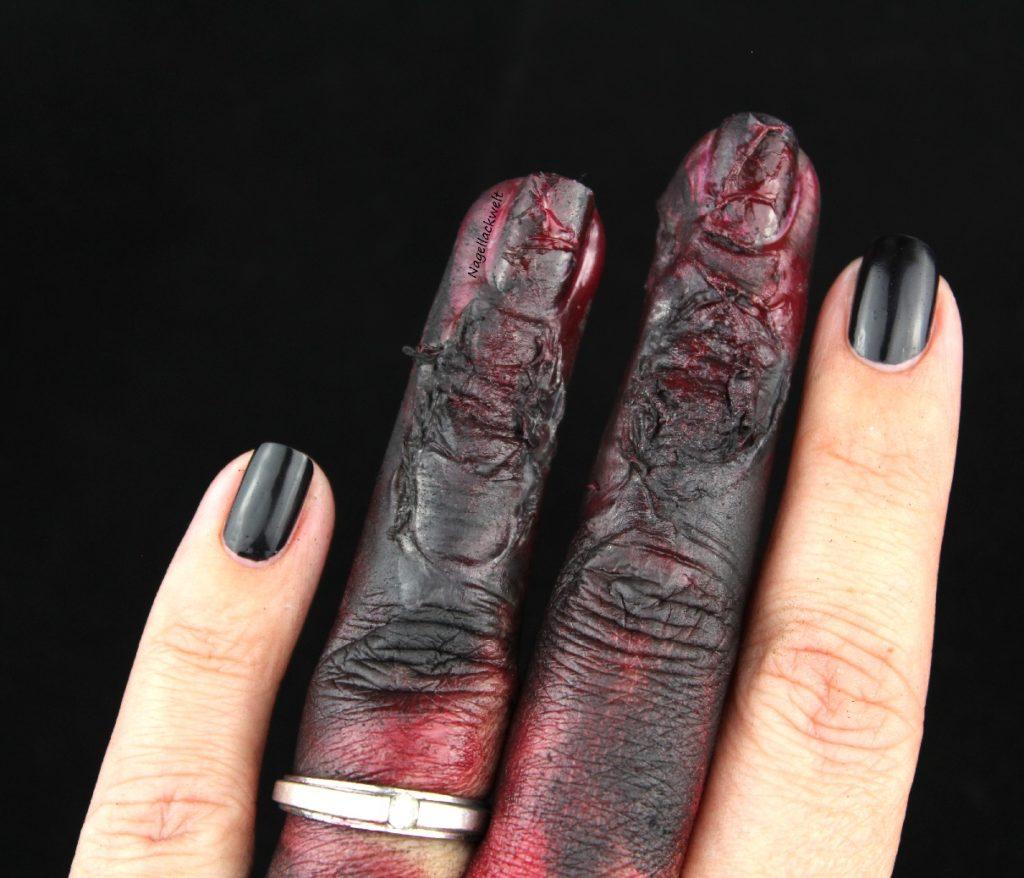 Halloween Nageldesign verkohlte Finger 1