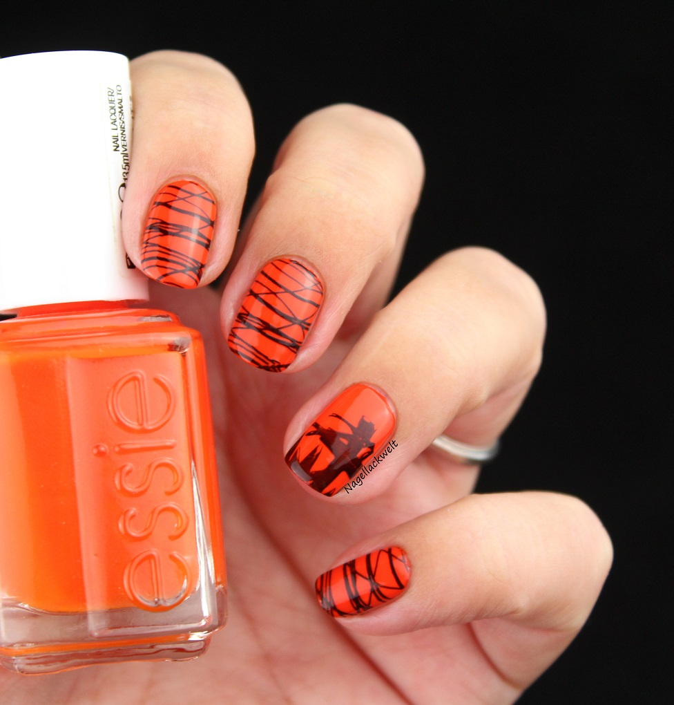 essie halloween nails stamping