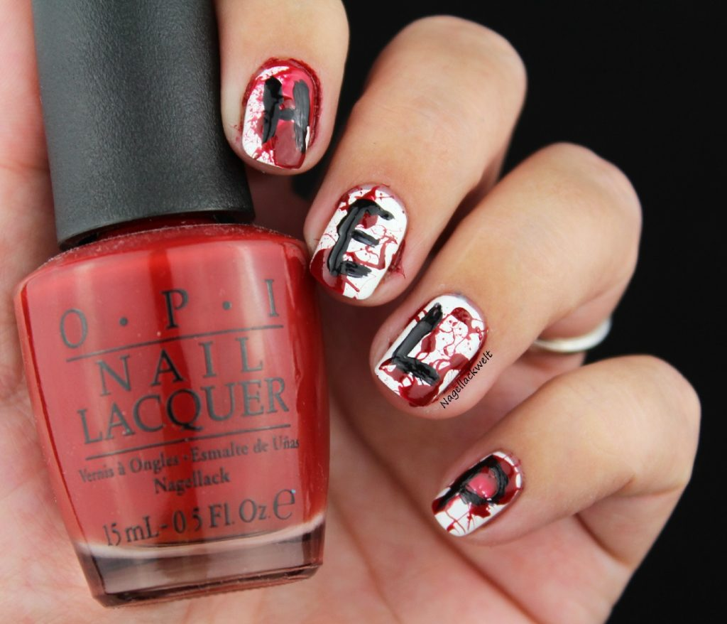 halloween nageldesign blut help