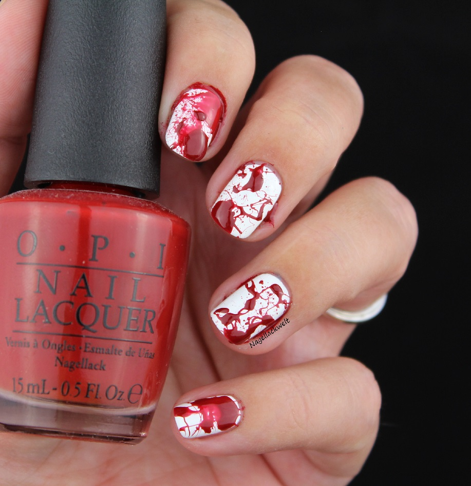 halloween nageldesign blut