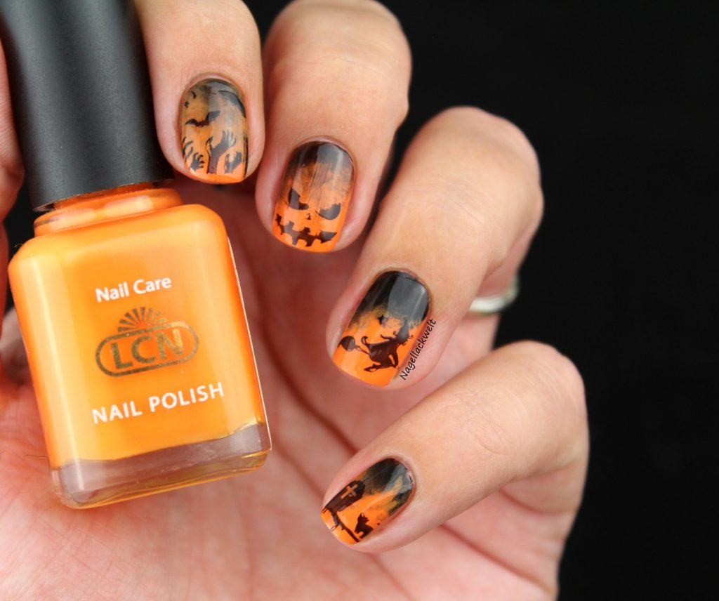 halloween nails lcn