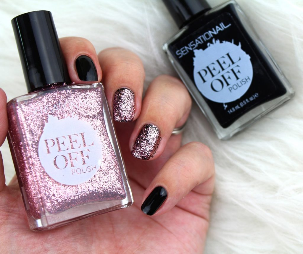 peel off sensationail polish glitzer